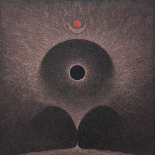 Durga by Hanumantha Rao Devulapalli, Conceptual Painting, Oil on Canvas, Gray color