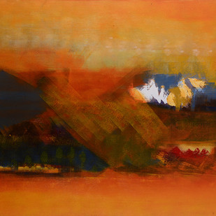 Spring-Untold stories 1 by Sadhana Raddi, Abstract Painting, Acrylic & Ink on Canvas, Brown color