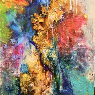 a walk in a forest by onima kashyap, Abstract Painting, Acrylic & Ink on Canvas, Brown color