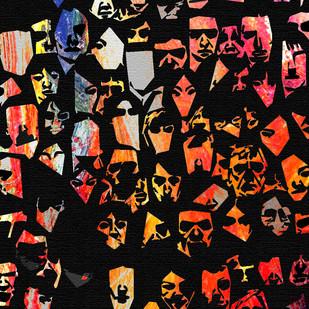 Facelessness by Maanas Lal, Pop Art Digital Art, Digital Print on Canvas, Brown color