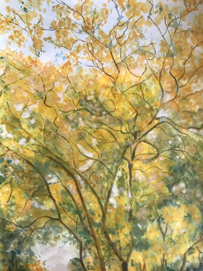 Trees 4 by Sujata Khanolkar