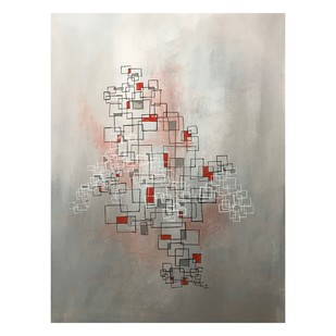 Untitled by Simran Sidhu, Abstract Painting, Acrylic on Canvas, White color