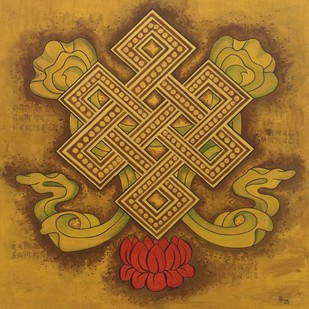 UNION by PRIYA PATIL, Traditional Painting, Acrylic on Canvas, Brown color