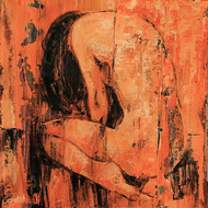 The Bath ( hostel days)- by gurdish pannu, Expressionism Painting, Acrylic on Canvas, Brown color