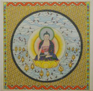 Shakyamuni (Gautam Buddha) Digital Print by Deepika Kapur,Expressionism