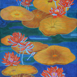 New Life by Deepika Kapur, Expressionism Painting, Acrylic & Ink on Canvas, Brown color