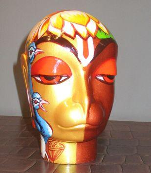 Hanuman by Sachindranath Jha, Art Deco Sculpture | 3D, Fiber Glass, Brown color