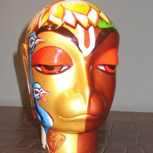 Hanuman by Sachindranath Jha, Art Deco Sculpture | 3D, Fiber Glass, Brown color