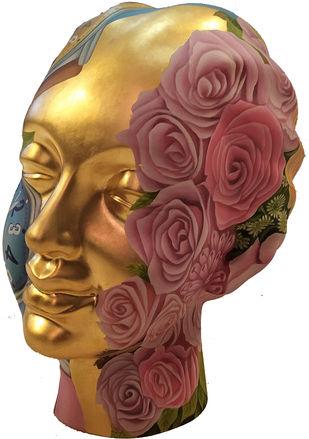 Untitled E - 575 by Venkat Bothsa, Art Deco Sculpture | 3D, Fiber Glass, Brown color