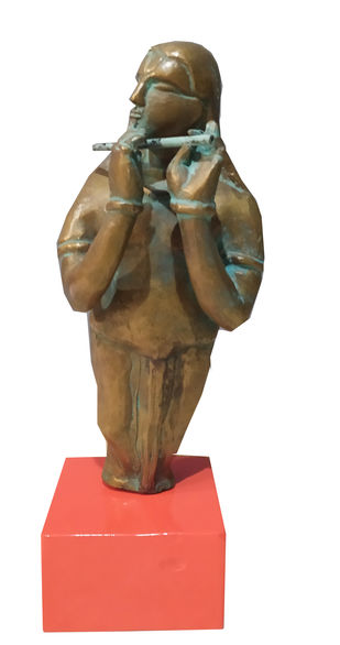 Untitled by Thota Vaikuntam, Art Deco Sculpture | 3D, Bronze, White color