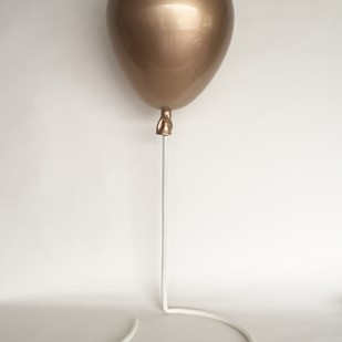 Gold balloon by Vernika, Art Deco Sculpture | 3D, Fiber Glass, Timberwolf color