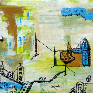 Vision 3 by riddhima sharraf, Expressionism Painting, Acrylic on Canvas, Beige color