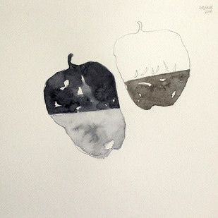 untitled 1616 by Arvind Patel, Illustration Drawing, Watercolor on Paper, Beige color