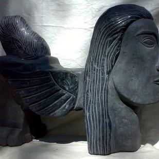 Kamadhenu by Karoonamoorthy.N, Expressionism Sculpture | 3D, Stone, Gray color