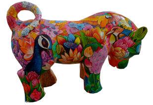 Surrender by Sachindranath Jha, Art Deco Sculpture | 3D, Fiber Glass, Brown color
