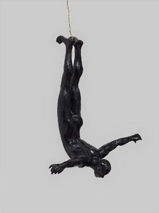 The Diver by Vernika, Art Deco Sculpture | 3D, Metal, Gray color