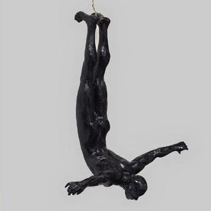 The Diver by Vernika, Art Deco Sculpture | 3D, Metal, Gray color