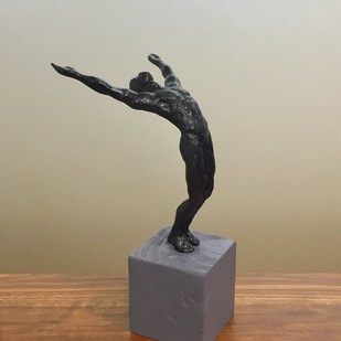 Victorious by Vernika, Art Deco Sculpture | 3D, Metal, Beige color