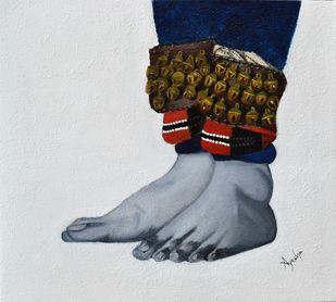 Kathakali Pada Bhedas Digital Print by Ayesha Jilkar,Expressionism