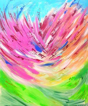BLOOMING JOY Digital Print by Trpti Malhotra,Abstract