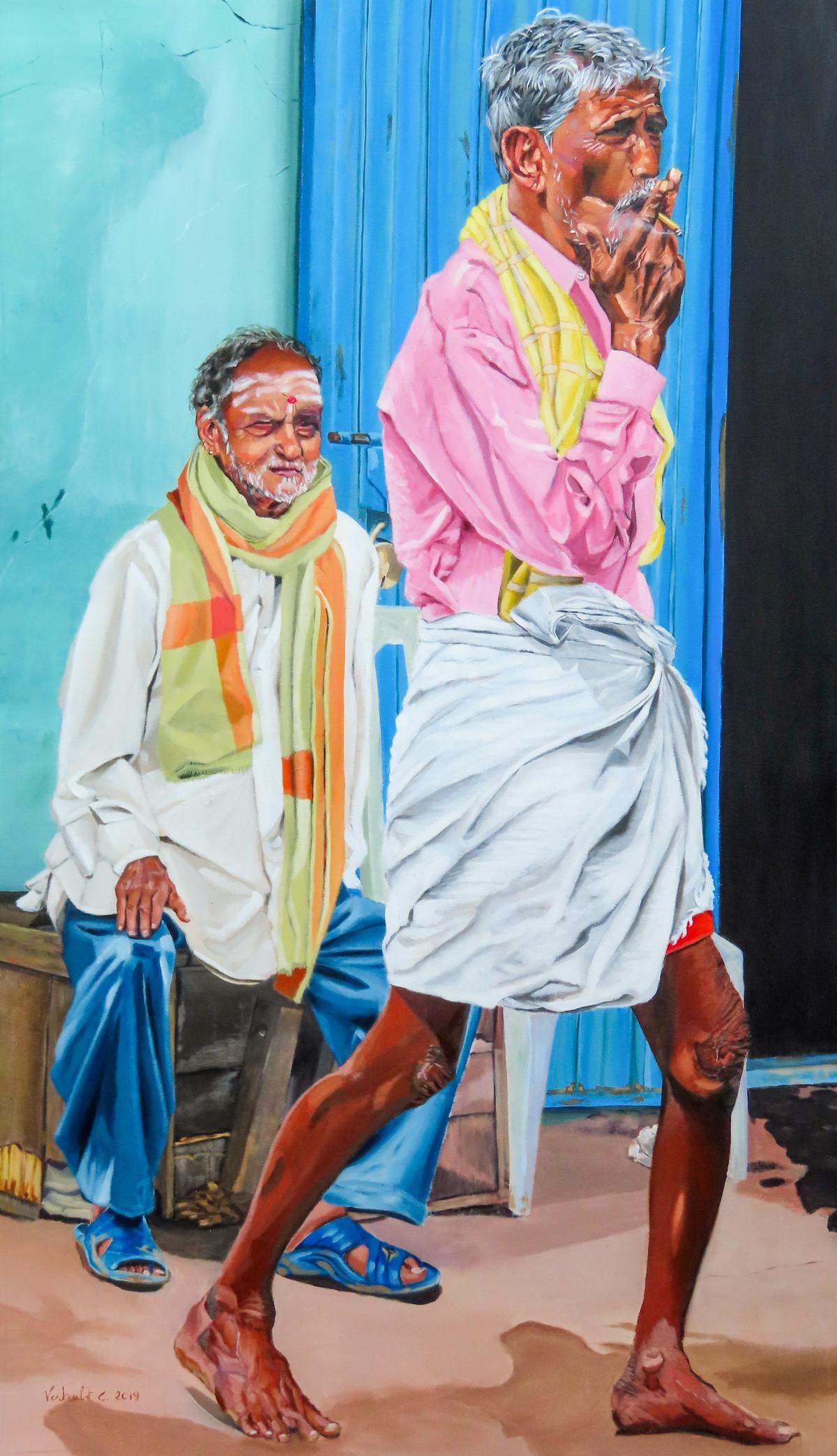 WALKING MAN Digital Print by Carl Verhulst,Pop Art