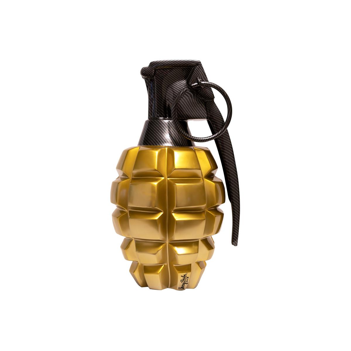 Pop Grenade gold/black by Sanuj Birla, Pop Art Sculpture | 3D, Fiber Glass, White color