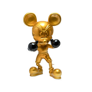 Knockout Mickey Gold by Sanuj Birla, Pop Art Sculpture | 3D, Fiber Glass,