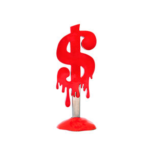 Melting Dollar Popsicle Red by Sanuj Birla, Art Deco Sculpture | 3D, Fiber Glass, White color
