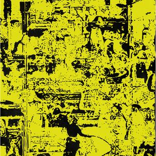 Jubilation- V by Niraja Bhuwal, Abstract Painting, Acrylic on Canvas, Green color