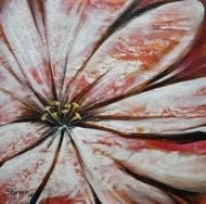 Lantana by Shireen Malayya, Art Deco Painting, Acrylic on Canvas, Brown color