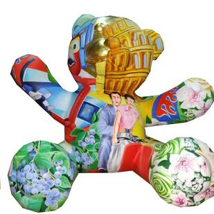 Teddy by Venkat Bothsa, Art Deco Sculpture | 3D, Fiber Glass, White color