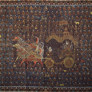 Mata-Ni-Pachedi by Unknown Artist, Traditional Painting, Vegetable Dye on Cotton, Brown color