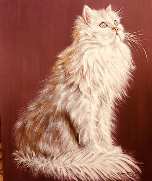 The White Cat Digital Print by Soma Sen,Photorealism
