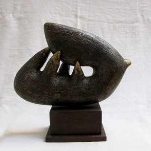 UNTITLED by Prakash Patidar, Art Deco Sculpture | 3D, Brass, Gray color