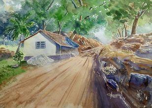 Sunny Digital Print by K V Sanu,Impressionism