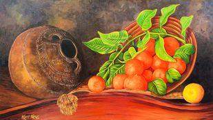 Nectar of Orange Digital Print by Soma Sen,Realism
