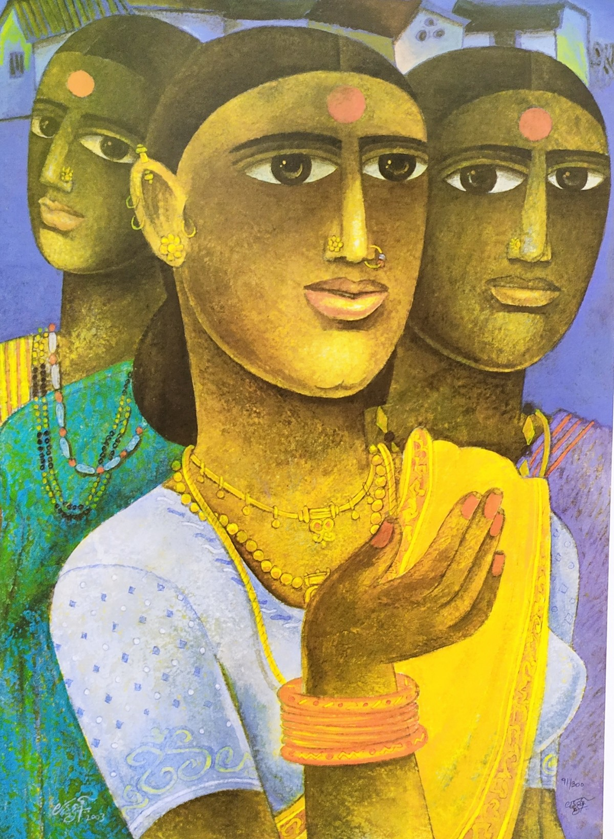 Untitled by Laxman Aelay, Expressionism Painting, Print on Paper, Brown color