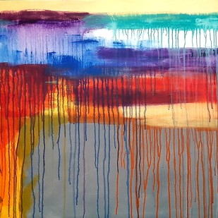Positive vibes by tajinder pal singh, Abstract Painting, Acrylic on Canvas, Brown color