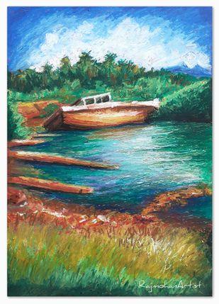 Boat Digital Print by Rajmohan,Fantasy