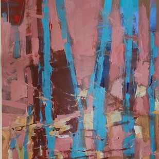 In the Light of Things by Murali Sivaramakrishnan, Expressionism Painting, Acrylic on Canvas, Brown color