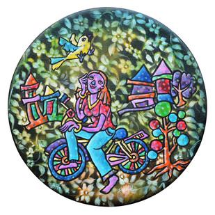 Dreams by Sheetal Chitlangiya, Expressionism Painting, Mixed Media on Canvas, Green color