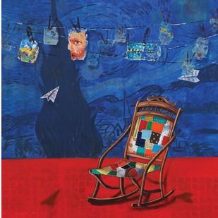 My Idol by Isha Bawiskar, Expressionism Painting, Acrylic on Canvas, Blue color