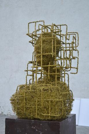 TOREMENT by ABHISHEK MANDALA, Art Deco Sculpture | 3D, Iron, Cadet Blue color