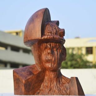 THE SERIES OF PROLETARIAT -1 by ABHISHEK MANDALA, Art Deco Sculpture   3D, Terracotta, Shingle Fawn color