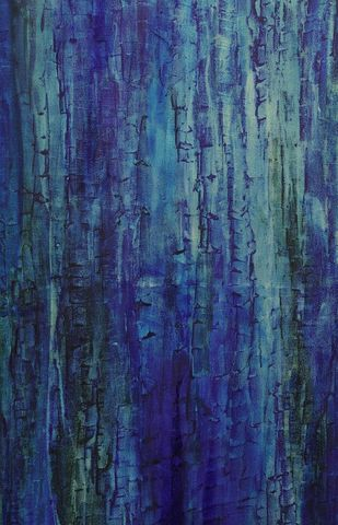 Nature-When Time stood still by PRATAP SINGH, Abstract Painting, Oil on Canvas,