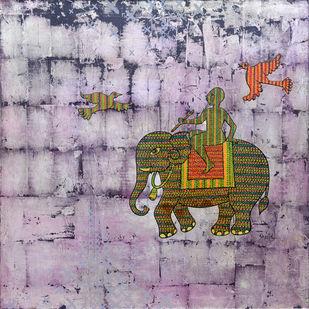 Gond Art by Sheetal Chitlangiya, Folk, Tribal Painting, Acrylic on Canvas, Brown color