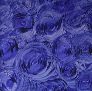 Deep in love-II-Blue by PRATAP SINGH, Abstract Painting, Acrylic on Canvas, Blue color