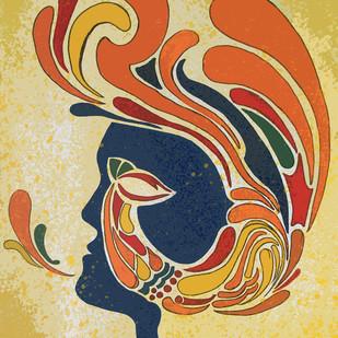 Free Mind by Poovannan , Digital Digital Art, Drypoint on Paper, Beige color