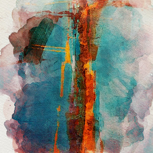 untitled by Gopal Mehan, Abstract Painting, Acrylic & Ink on Paper, Brown color
