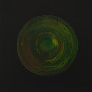 Transcending Origins 2 by Sagar Mehta, Geometrical Painting, Acrylic on Canvas, Black color